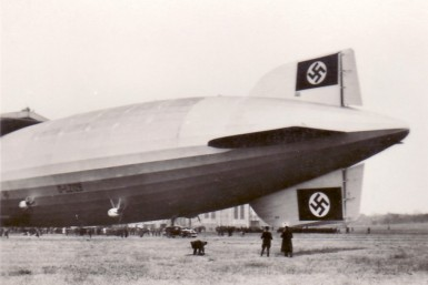 The Hindeburg with Swastikas