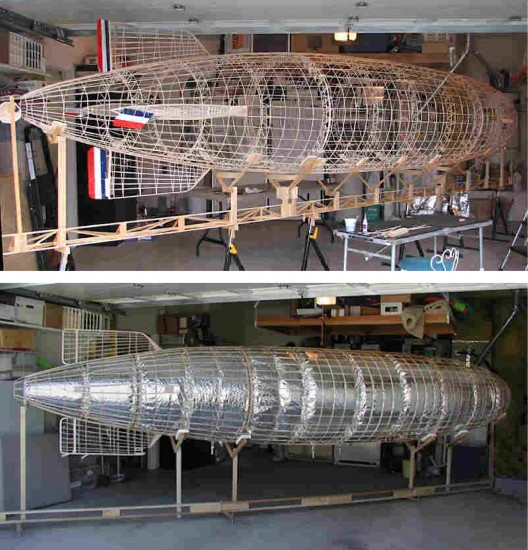 USS Macon model, framing