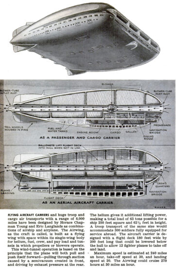 Hybrid airship proposal from 1943