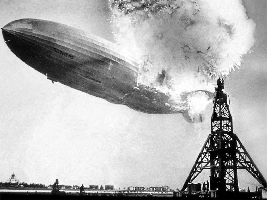 Hindenburg disaster at Lakehurst