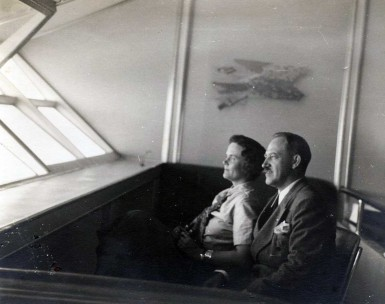 Clarence and Dorothy Hall aboard Hindenburg