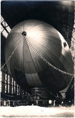 Christening of LZ-127 on July 8, 1928 by Countess Helene von Brandenstein-Zeppelin