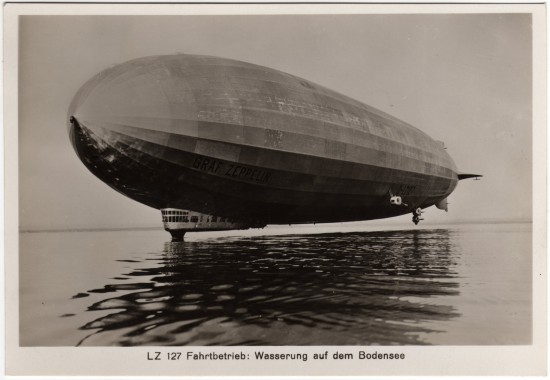 LZ-127 Graf Zeppelin on the Bodensee (Lake Constance)