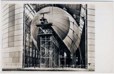 Airship Hindenburg under construction