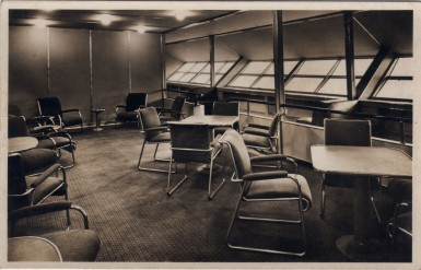 Passenger Lounge on the Airship Hindenburg