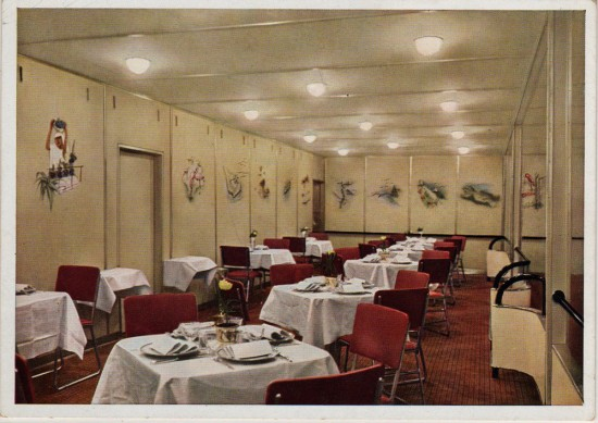 Dining Room of Airship Hindenburg (Airships.net collection)