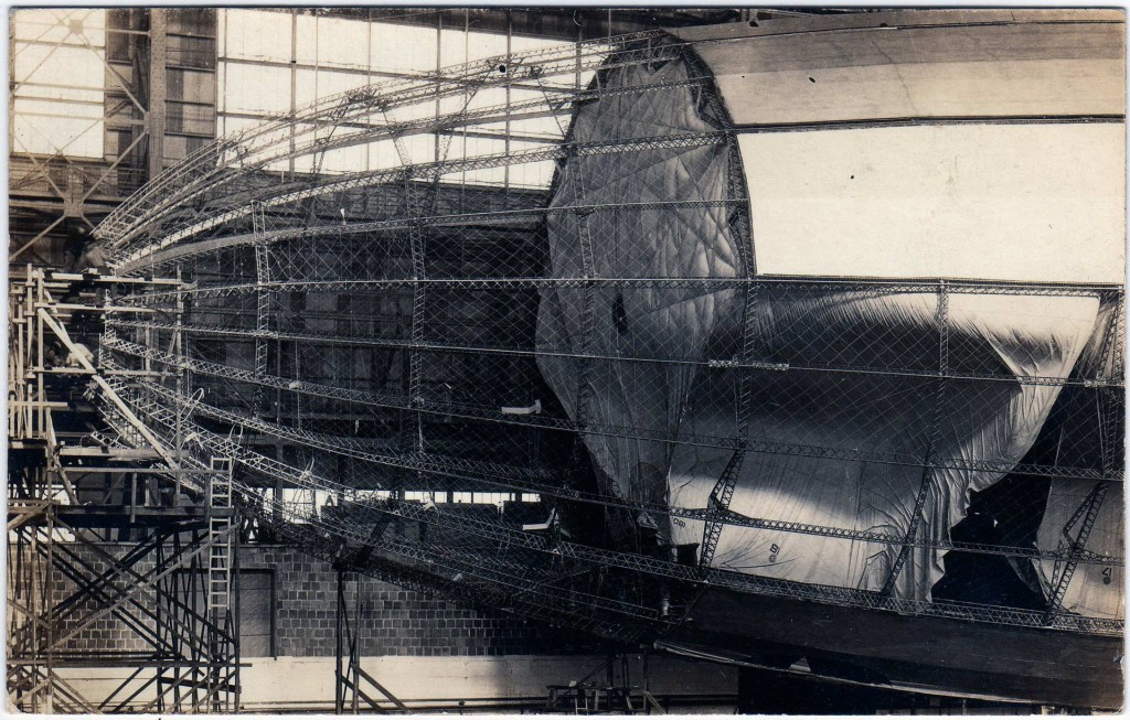 USS Shenandoah under construction