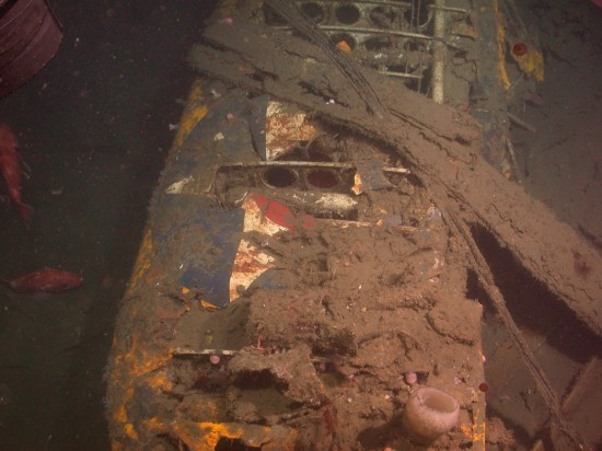 Remains of a Curtiss Sparrowhawk F9C-2 biplane at the USS Macon wreck site. (Credit: NOAA)