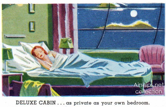 Sleeping cabin on Goodyear's proposed luxury airship. (Airships.net collection)